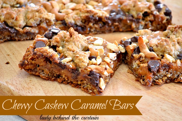 Cashew Caramel Cracker Bars Recipe — Dishmaps