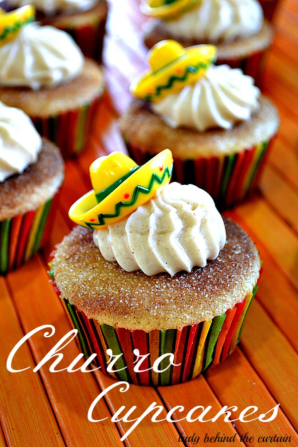 Lady Behind The Curtain - Churro Cupcakes