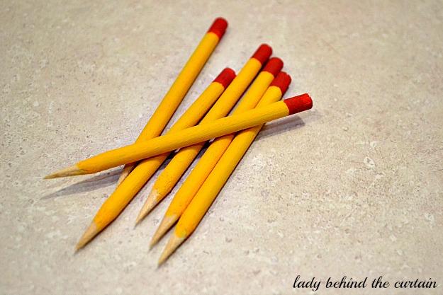 Lady Behind The Curtain - DIY Mini Pencils
