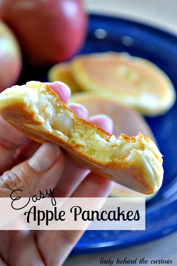 Lady Behind The Curtain - Easy Apple Pancakes