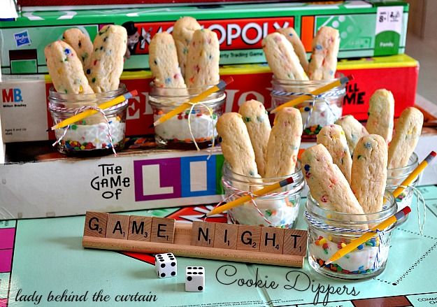 Lady Behind The Curtain - Game Night Cookie Dippers