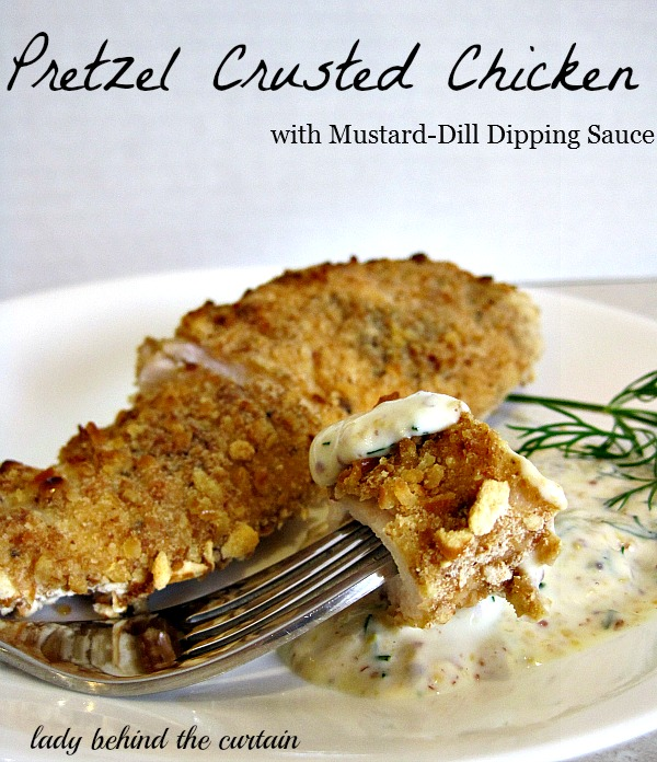 Lady-Behind-The-Curtain-Pretzel-Crusted-Chicken-with-Mustard-Dill-Dipping-Sauce