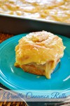 Vanilla Cinnamon Rolls with just the right amount of sweetness topped with a delicious caramel frosting.