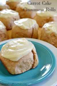 Carrot Cake Cinnamon Rolls - Lady Behind The Curtain