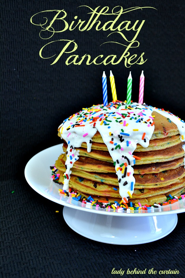 Fine Cake Batter Birthday Pancakes Personalised Birthday Cards Veneteletsinfo