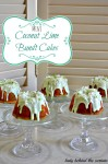 Mini Coconut Lime Bundt Cakes