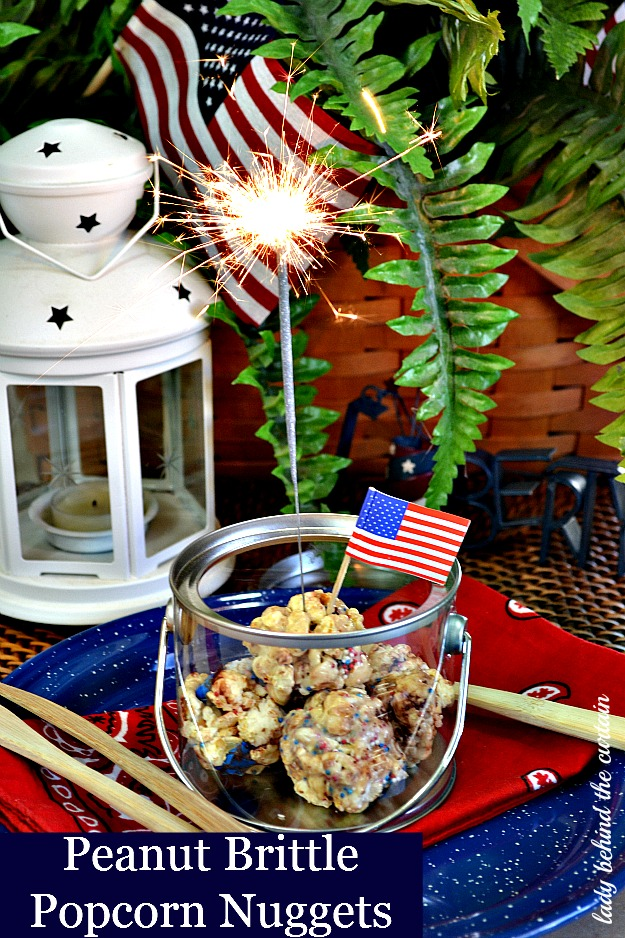 Lady Behind The Curtain - Peanut Brittle Popcorn Nuggets