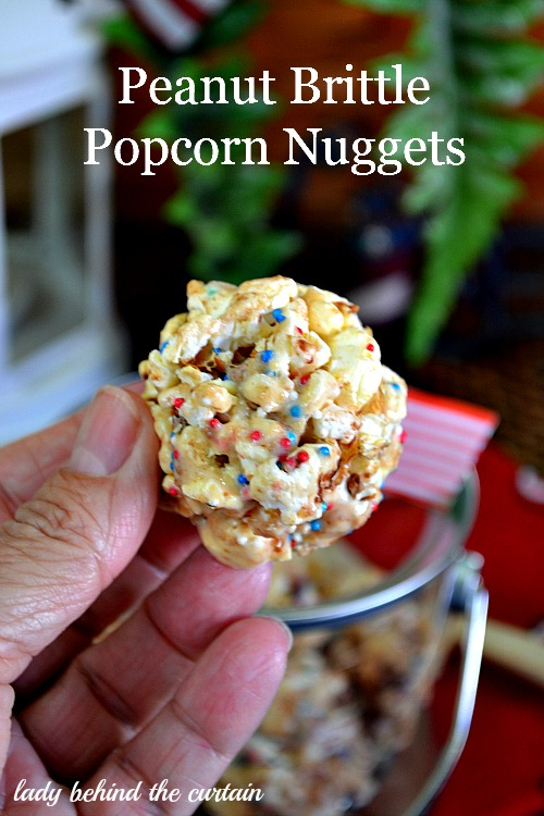 Peanut Brittle Popcorn Nuggets