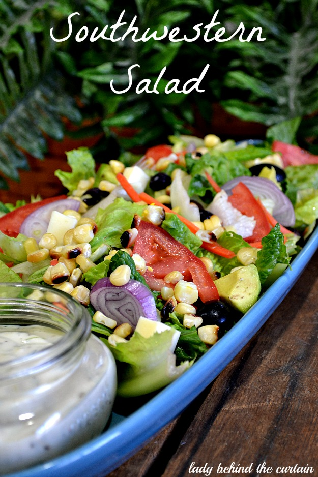 Lady Behind The Curtain - Southwestern Salad