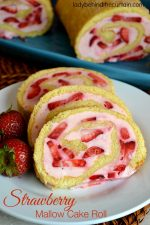 Strawberry Mallow Cake Roll PLUS How to Video!