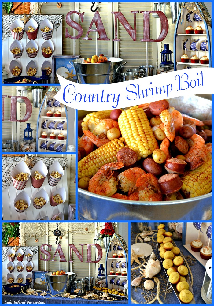 Country Shrimp Boil  Party - Lady Behind The Curtain