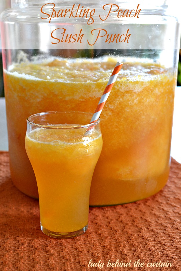 Cool off with this refreshing Sparkling Peach Slush Punch drink. Make ...