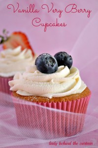 Lady Behind The Curtain - Vanilla Very Berry Cupcakes