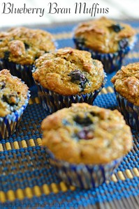 Blueberry Bran Muffins - Lady Behind The Curtain