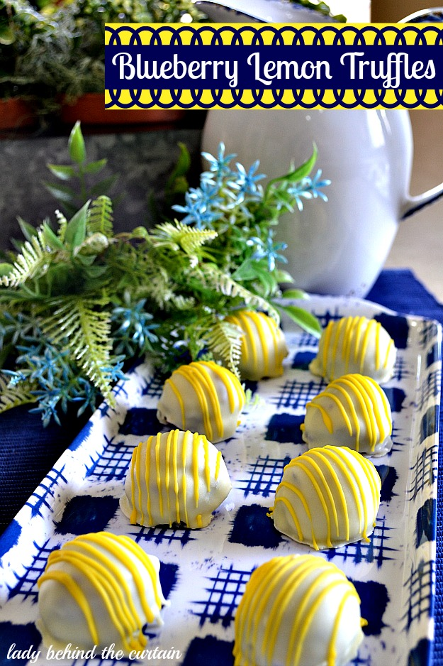 Blueberry Lemon Truffles - Lady Behind The Curtain