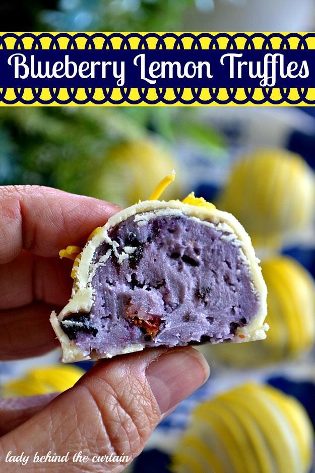 homemade truffle recipes, lemon blueberry truffles