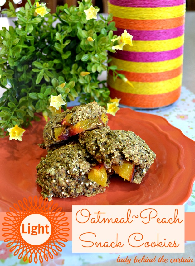 Light Oatmeal Peach Snack Cookies - Lady Behind The Curtain