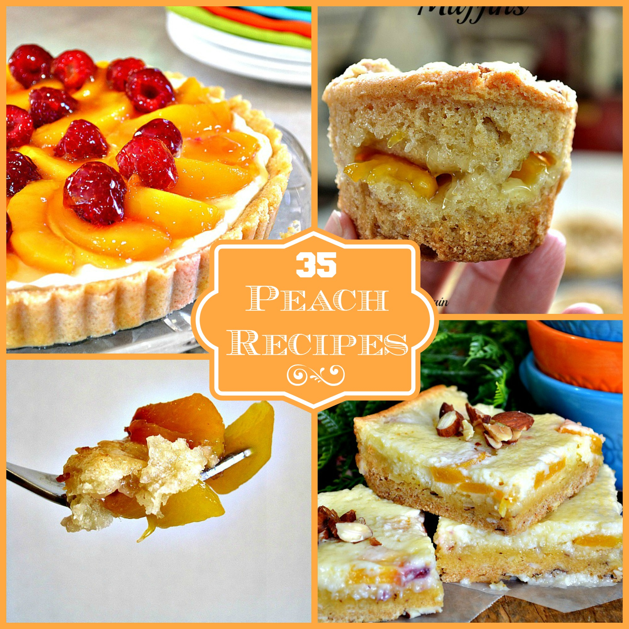 35 Peach Recipe Round Up - Lady Behind The Curtain