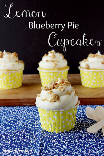 Lemon Blueberry Pie Cupcakes