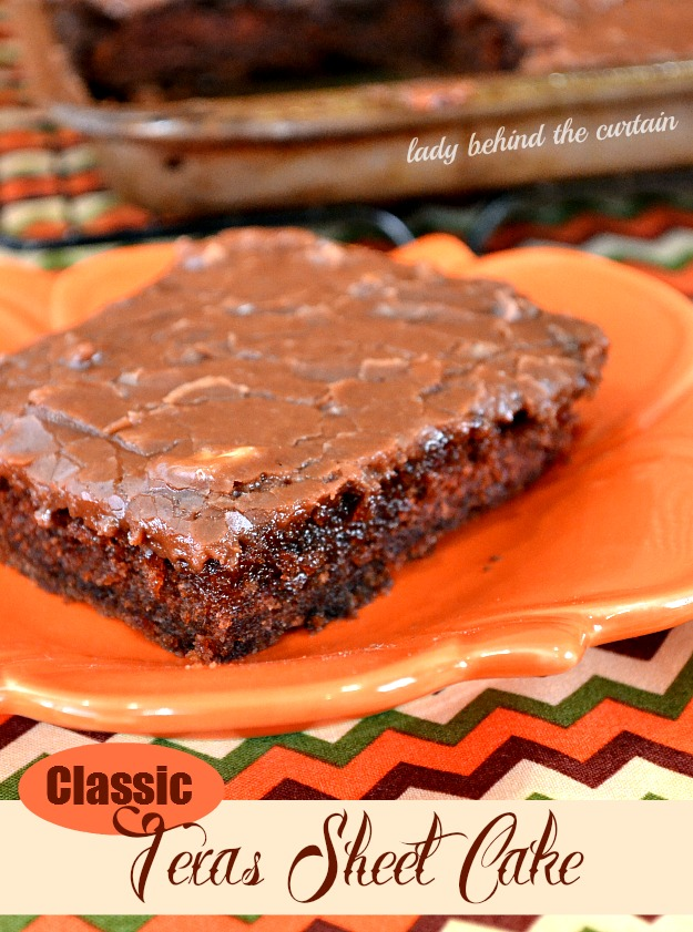 Classic Texas Sheet Cake - Lady Behind The Curtain