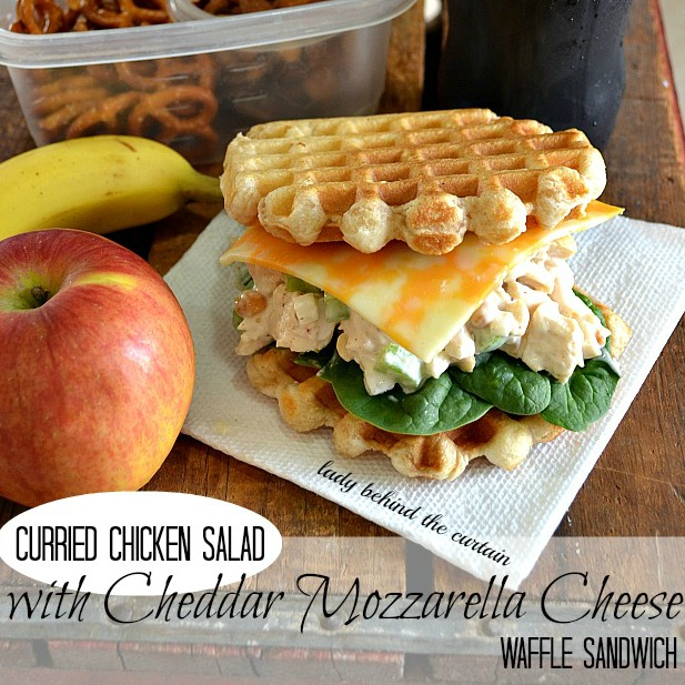 Curried-Chicken-Salad-with-Cheddar-Mozzarella-Cheese-Waffle-Sandwich