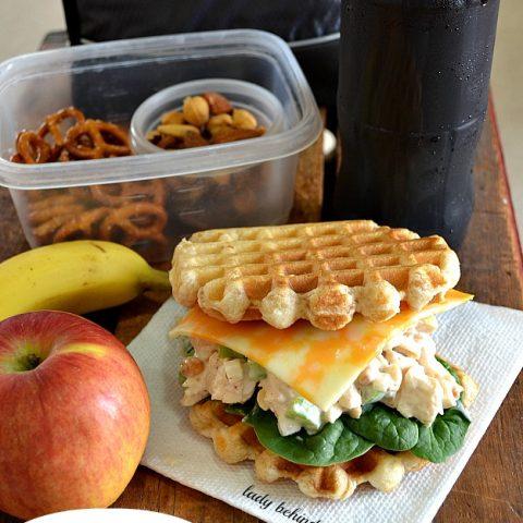 Curried Chicken Salad Waffle Sandwich