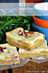 Peaches and Cream Cheese Bars ~Behind The Curtain Dessert Challenge