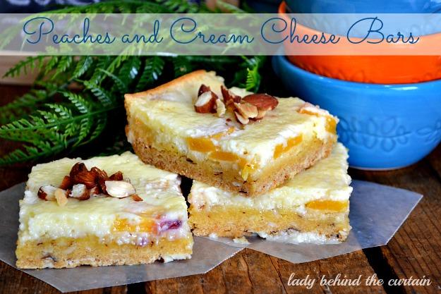 Peaches and Cream Cheese Bars