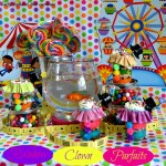 Rainbow Clown Parfaits