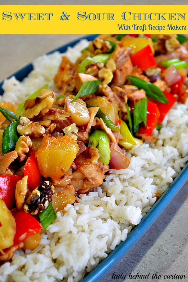 Sweet & Sour Chicken with Kraft Recipe Makers - Lady Behind The Curtain