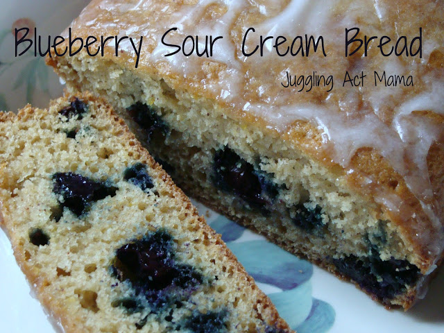 Blueberry Sour Cream Bread