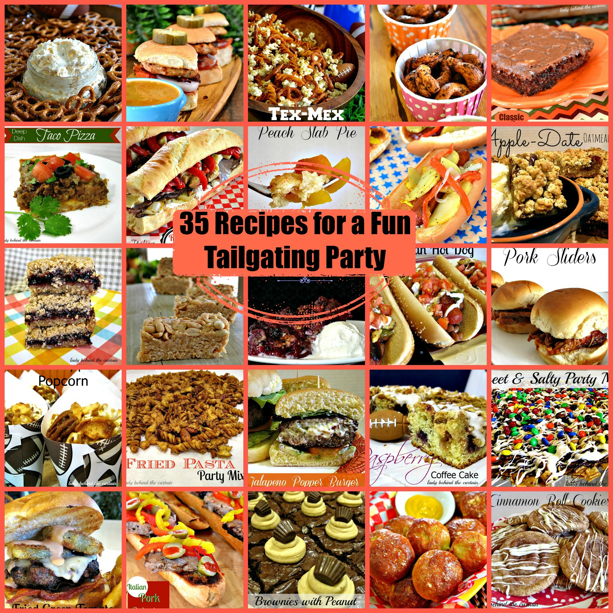 35 Recipes for a Fun Tailgating Party - Lady Behind The Curtain