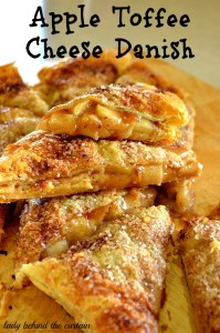 Apple Toffee Cheese Danish - Lady Behind The Curtain
