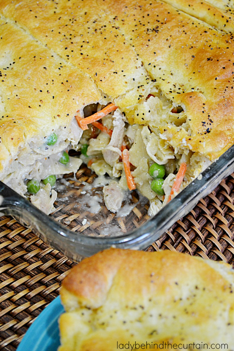 Chicken Noodle Pot Pie Casserole