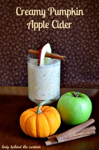 Creamy Pumpkin Apple Cider - Lady Behind The Curtain