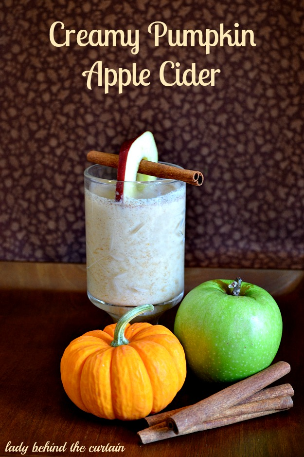 Creamy Pumpkin Apple Cider - Lady Behind The Curtain #Shop