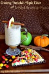 Creamy Pumpkin Apple Cider and M&M Brownie Pizza