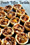 Peach Toffee Tartlets