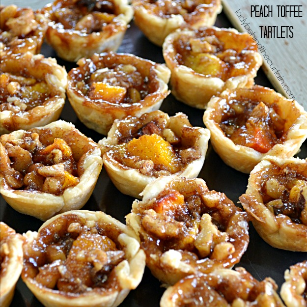 Peach Toffee Tartlets - Lady Behind The Curtain