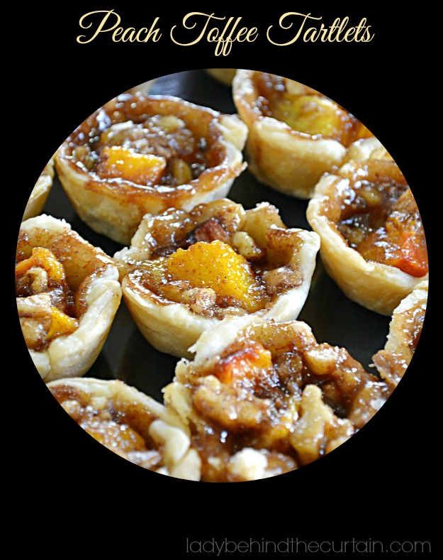 Peach Toffee Tartlets - Lady Behind The CurtainPeach Toffee Tartlets - Lady Behind The Curtain