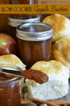 One of the most popular recipes I make for Fall! Bring the scent of Fall into your home with this Slow Cooker Apple Butter.