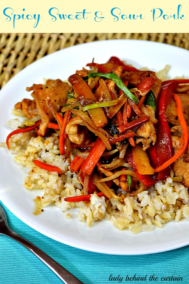 Spicy Sweet & Sour Pork - Lady Behind The Curtain