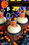 Trick or Treat Peanut Butter Chocolate Cupcakes