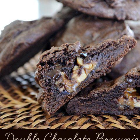 Double Chocolate Brownie Stuffed Cookies