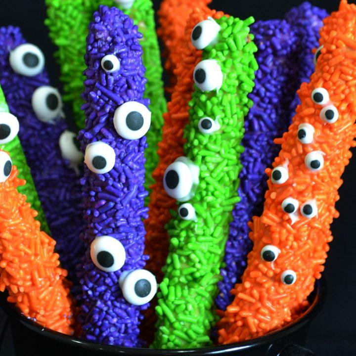 Halloween Party Eye of Newt Pretzels