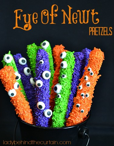 Eye of Newt Pretzels