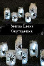 Halloween Spider Light Centerpiece