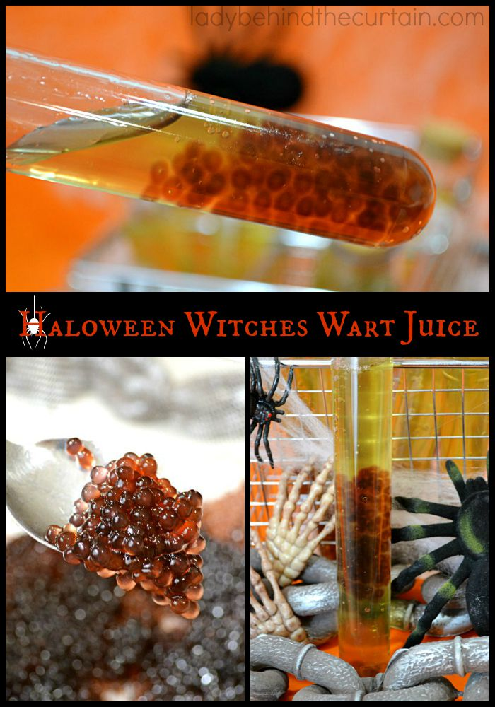This Halloween Witches Wart Juice is CREEPY YUCKY HALLOWEEN PARTY FUN!