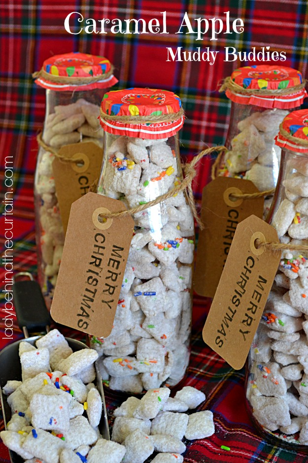 Caramel Apple Muddy Buddies - Lady Behind The Curtain