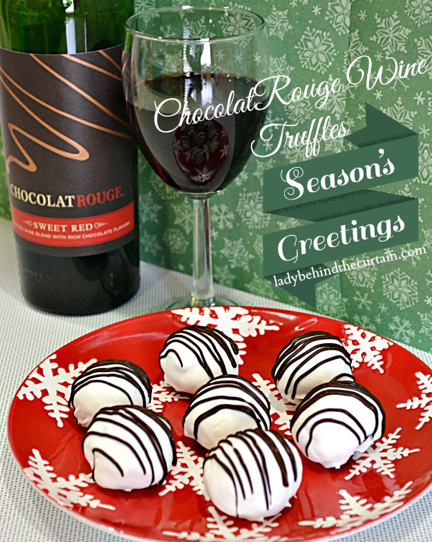 #ChocolatRouge Wine Truffles - #Cheers2Chocolate - Lady Behind The Curtain  #shop